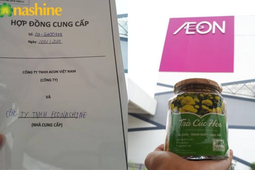 Econashine chính thức trở thành nhà cung cấp cho siêu thị AEON Nhật Bản